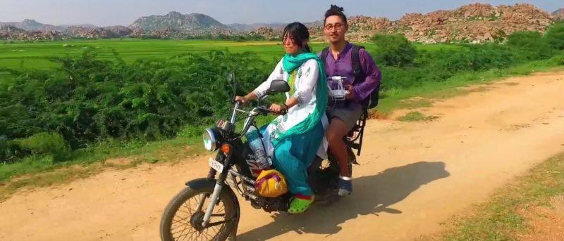 空拍 度蜜月 旅行 日本 情侶
