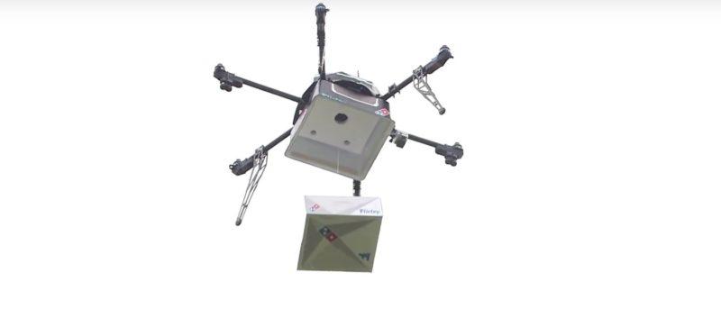 全球首部外送披薩無人機 Domino's Pizza Drone