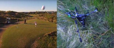 australia-golf-drone 澳洲 女孩 高爾夫球 擊中