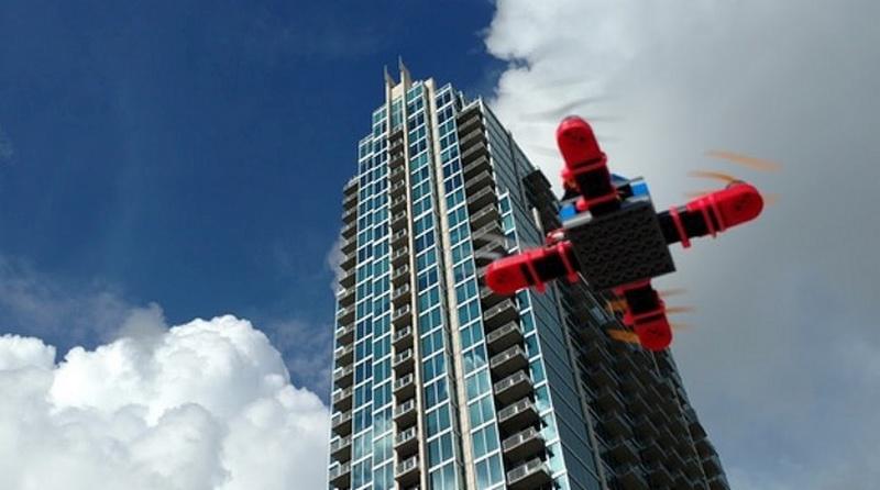 樂高積木組裝而成的無人機 Digital Sky Mini