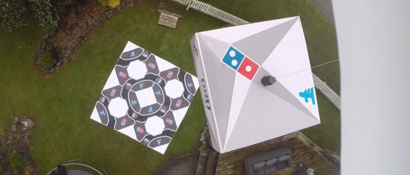 達美樂在紐西蘭用無人機送薄餅