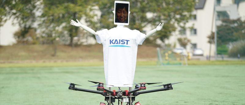 韓國 Robot Drone Man 無人機遙距操控升空