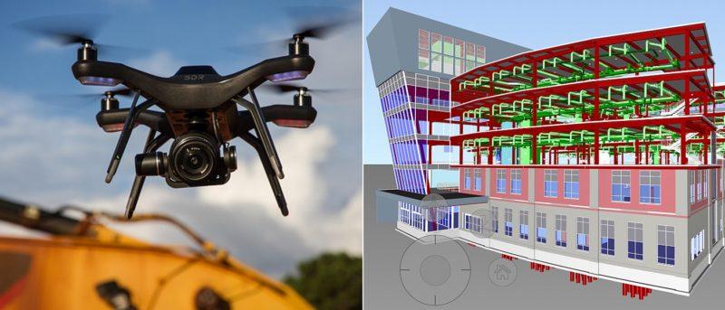 3D Robotics Site Scan 結合建築信息模型 BIM