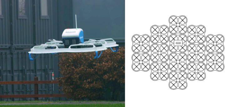 亞馬遜集群無人機專利圖曝光 合體變身巨型運輸機