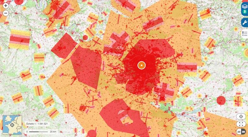 法國 禁飛區 民航局 DGAC 地圖
