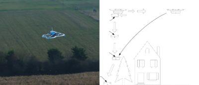 亞馬遜無人機空中卸貨專利技術 遙控降落傘改變貨箱降落軌跡