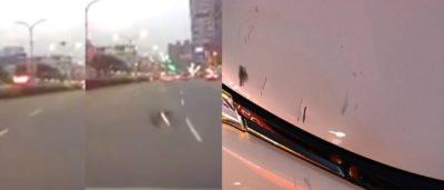 台灣新北市土城區捷運永寧站無人機撞車