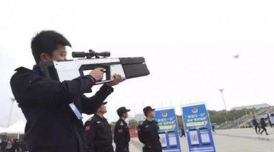 中國 武漢 無人機 反制槍 電磁波