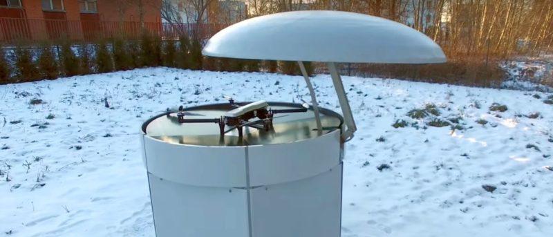 Eli Drone Nest 基地站讓無人機降落補給