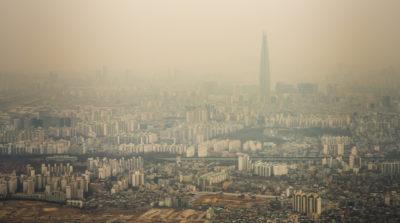 中國霧霾籠罩韓國 首爾研集群無人機除微粒