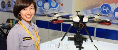 台灣警用無人機搭載熱成像相機 災場搜索生還者