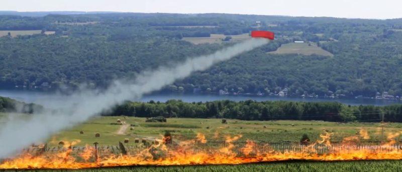 Drone Hopper 消防無人機 備三級噴灑系統
