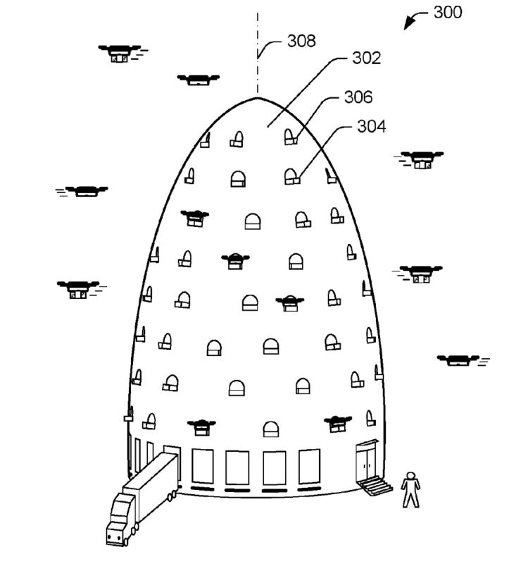 亞馬遜(Amazon)無人機專用多層出貨中心專利設計(2)