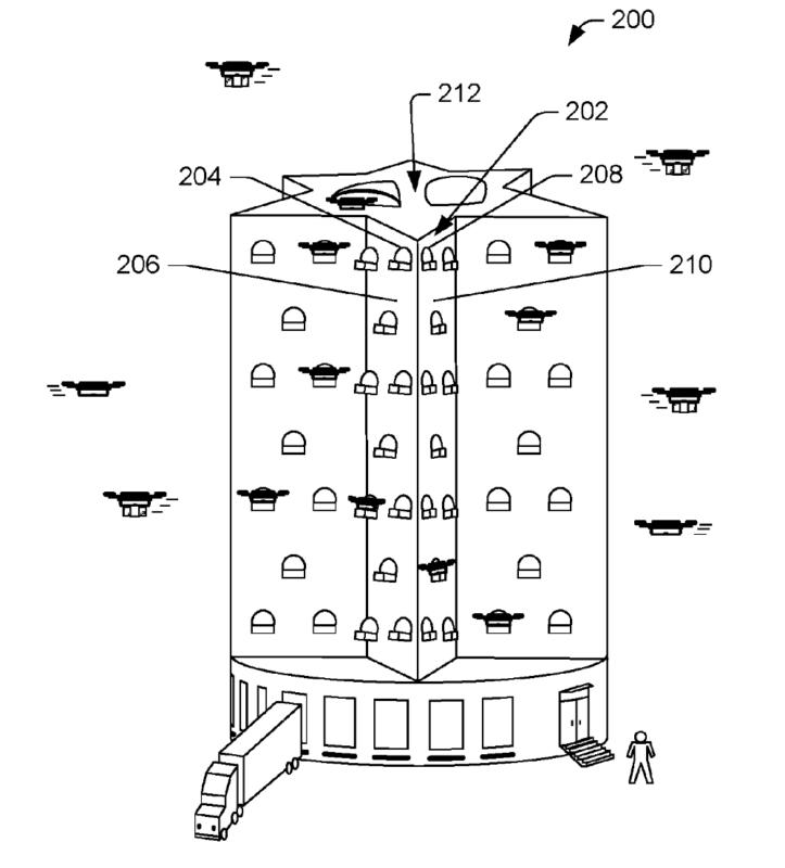 亞馬遜(Amazon)無人機專用多層出貨中心專利設計(3)