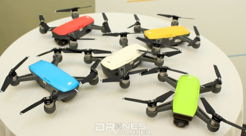 Spark 無人機備有五色機身版本可供選擇。
