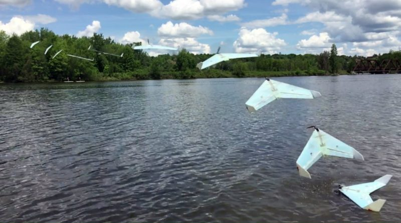SUWAVE 無人機「跳躍湖泊式」飛越加拿大