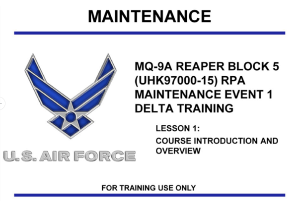 US Army drone maintainence