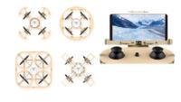 小巧木製無人機飛起來! 機體.搖控器近 200 部件全手砌