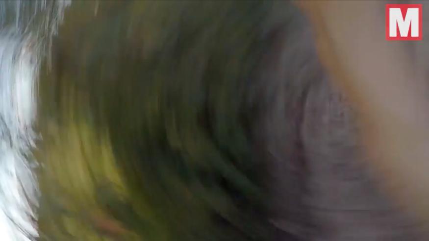 越野車手空中跳躍一刻撞上航拍機 肩膀被割出「刀疤」