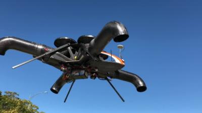 彎管風扇取代無人機槳翼 支援 DJI 遙控器