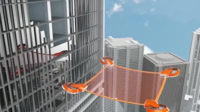 中國學生推救生網概念無人機 走火逃生或許存在另一種方法?