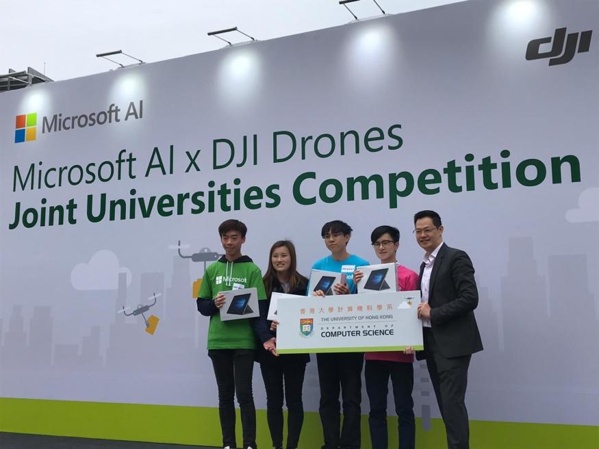 DJI 與 Microsoft 合辦首個 AI 聯乘無人機大專聯賽 學生一展所「翔」