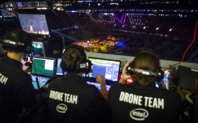 Maroon 5 超級盃中場演唱 Intel 破紀錄無人機燈光秀助興