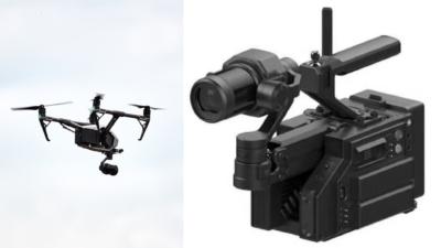 DJI Inspire 2 雲台相機落地有所為 手持拍攝裝備牒照流出