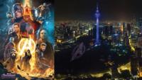 喜迎 Avengers 4 首映 300 無人機夜空中拼鋼鐵俠頭盔等圖案