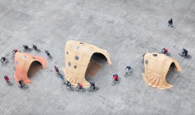 西班牙建築公司展示無人機噴漿技術 建造臨時結構更快更靈活