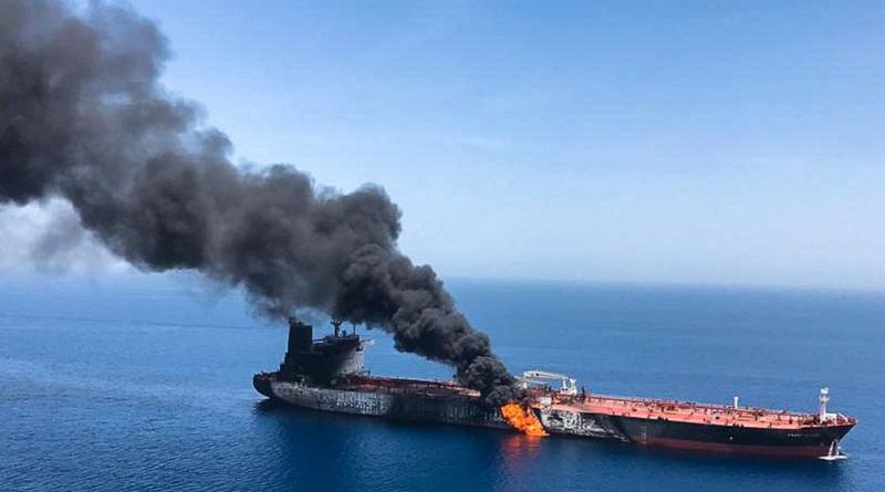 阿曼灣油輪起火 美指事件前伊朗曾發導彈試圖擊落美國 MQ-9 無人機