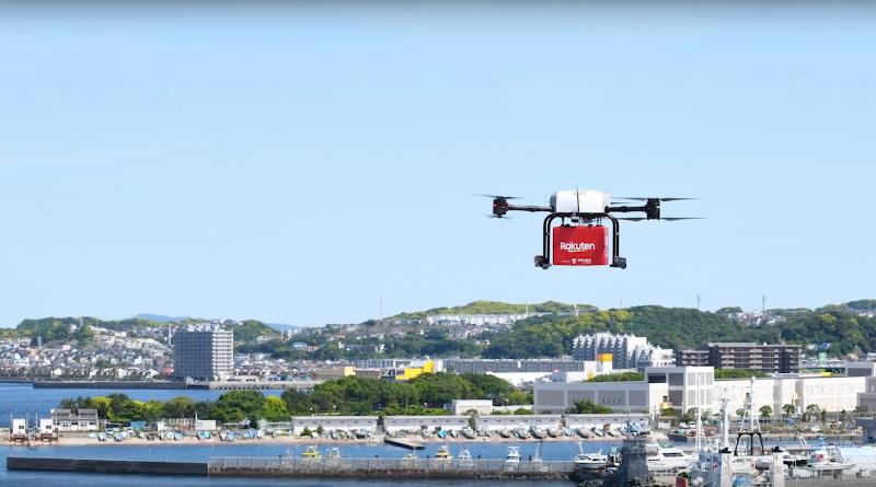 日本樂天與超市合作 無人機送貨至離島