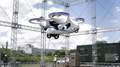 日本載客無人機「不載客」試飛 滯空約一分鐘