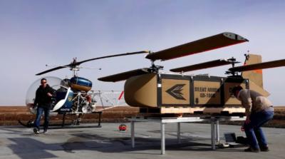 YEC 載貨無人機滑翔降落 成本僅現行空投系統一半