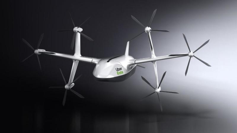 垂直起降 運送距離達 6 英里 Uber Eats 亮相送餐無人機