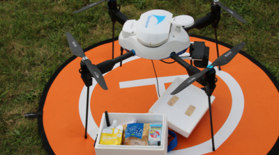 無人機運送醫療物資 北海道救災實驗