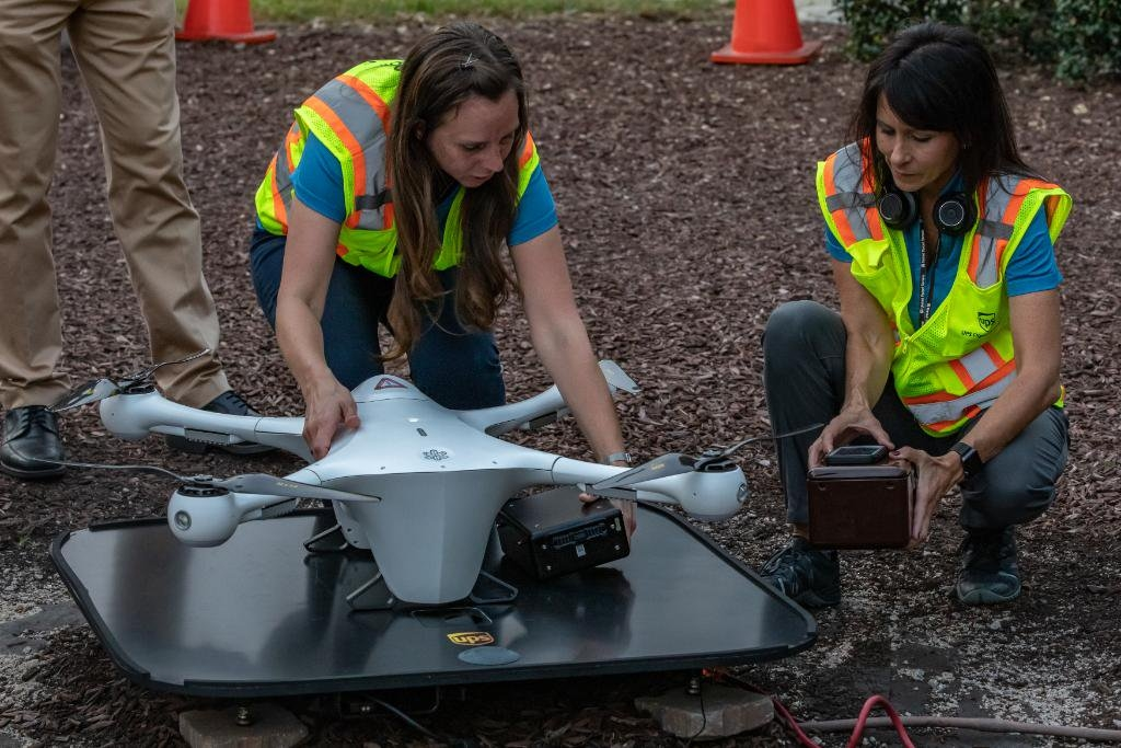 UPS 組全女子無人機飛行隊伍 她們的強項是什麼?