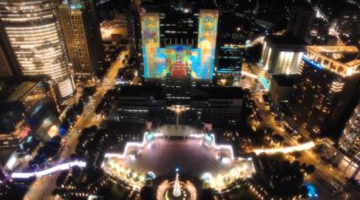 出動反無人機槍 新北市歡樂耶誕城驅逐空拍機