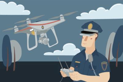 美警官用無人機追賊 熱成像鏡頭下疑犯無所遁形
