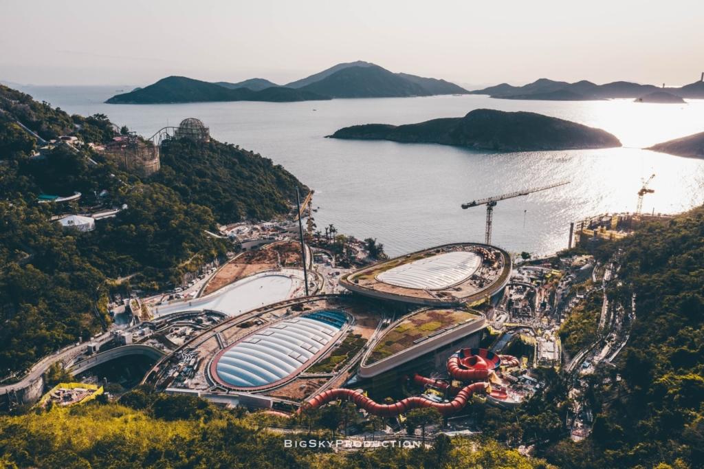 武漢肺炎下的樂園「不快樂」 航拍海洋公園一片沉寂
