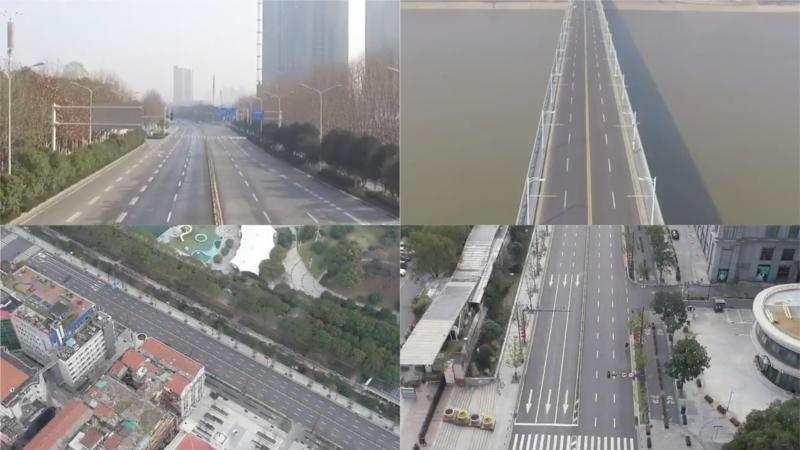 慘變「鬼城」! 航拍武漢封城後市況:路上幾乎沒車沒人