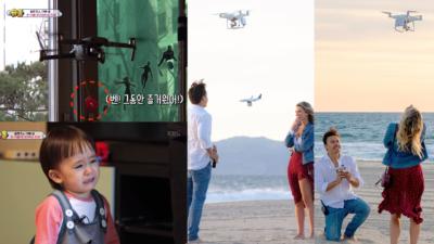 爸爸出動空拍機幫混血兒戒奶嘴 攝影師用無人機送鑽戒求婚