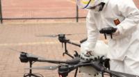 深圳起用 DJI 無人機噴灑消毒藥液 高空嚴防病毒傳播