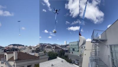 居家防疫缺廁紙,怎辦? 舊金山男子獲朋友用空拍機送來一卷