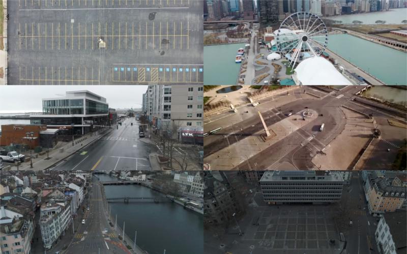 封城抗疫! 空拍世界各大城市「可怕的沉寂」 攝影師:像鬼城