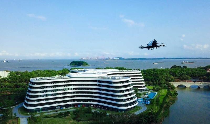 億航以廣州南沙花園酒店為試點開闢載客無人機空中游覽新體驗