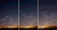 進階版光影塗鴉! 無人機繪製 2D 定格動畫 皮卡丘空中跳躍