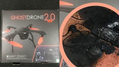 Ehang Ghostdrone 2.0 充電著火 英漢:真是太恐怖了!