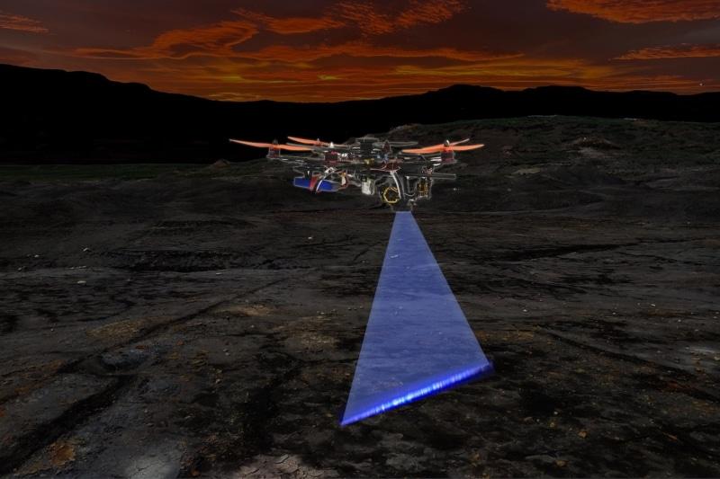 港大參與研發「激光盜龍」無人機系統 野外自動偵測化石