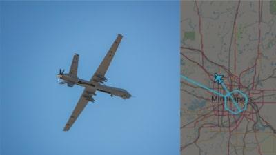 美國抗警暴示威持續  MQ-9 無人機明尼阿波利斯上空繞圍引關注